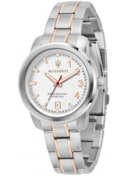 Maserati Unisex Royale White Dial Two Tone Stainless Steel Watch R8853137504