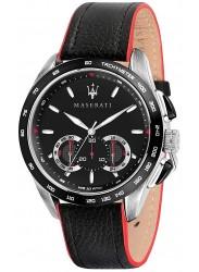 Maserati Men's Traguardo Black Dial Black Leather Watch R8871612028