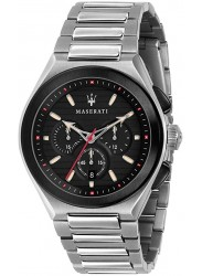 Maserati Men's Triconic Chronograph Black Dial Stainless Steel Watch R8873639002