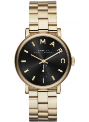 Marc by Marc Jacobs Women's Baker Black Dial Gold Tone Stainless Steel Watch MBM3355