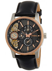Fossil Men's Twist GMT Chronograph Black Leather Watch ME1099