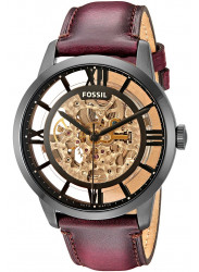 Fossil Men's Townsman Automatic Brown Leather Watch ME3098