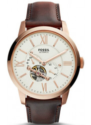 Fossil Men's Townsman Automatic Brown Leather Watch ME3105