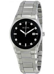 Bulova Men's Black Dial Stainles Steel Watch 96D104