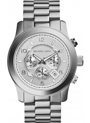 Michael Kors Men's Runway Chronograph Silver Dial Watch MK8086
