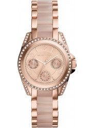 Michael Kors Women's Chronograph Mini Blair Rose Gold Tone Watch MK6175