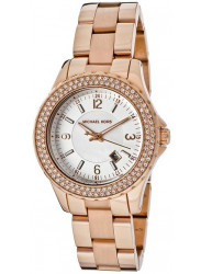 Michael Kors Women's Madison White Dial Crystal Rose Gold Tone Watch MK5403