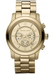 Michael Kors Men's Runway Chronograph Gold-Tone Watch MK8077