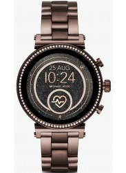 Michael Kors Women's Access Sofie Heart Rate Sable Stainless Steel Smartwatch MKT5075