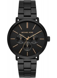 Michael Kors Men's Blake Chronograph Black Dial Black Stainless Steel Watch MK8703