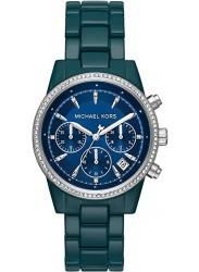 Michael Kors Women's Bradshaw Chronograph Blue Dial Blue Stainless Steel Watch MK6722