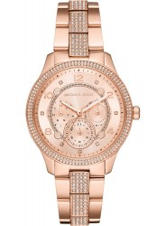Michael Kors Women's Cooper Chronograph Rose Gold Dial Rose Gold Stainless Steel Watch MK6614