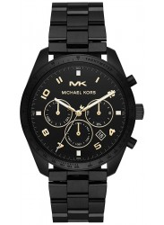 Michael Kors Men's Keaton Chronograph Black Dial Black Stainless Steel Watch MK8684