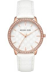 Michael Kors Women's Lady Nini White Logo Dial White Leather Watch MK2223