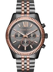 Michael Kors Men's Lexington Grey Dial Two-Tone Stainless Steel Watch MK8561