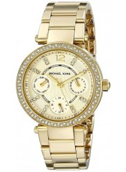Michael Kors MK6056 Women's 'Mini Parker' Gold Tone Ion Plated Stainless Steel Watch