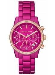 Michael Kors Women's Ritz Chronograph Pink Dial Pink Stainless Steel Watch MK6718
