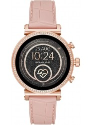 Michael Kors Women's Access Sofie Heart Rate Pink Silicone Smartwatch MKT5068