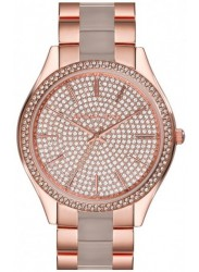 Michael Kors Women's Crystal Pave Rose Gold Stainless Steel Watch MK4288
