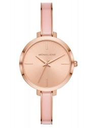 Michael Kors Women's Jaryn Rose Gold Dial Two Tone Stainless Steel Watch MK4343