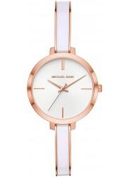 Michael Kors Women's Jaryn White Dial Two Tone Stainless Steel Watch MK4342