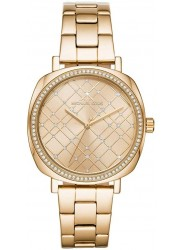 Michael Kors Women's Nia Gold Crystal Dial Gold Stainless Steel Watch MK3989