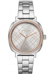 Michael Kors Women's Nia Silver Crystal Dial Stainless Steel Watch MK3988