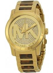 Michael Kors Women's Pave Dial Two Tone Watch MK5864