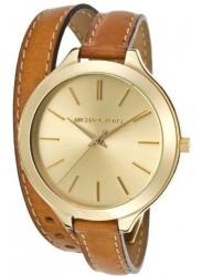 Michael Kors Women's Runway Champagne Dial Leather Watch MK2256