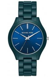 Michael Kors Women's Slim Runway Blue Dial Blue Stainless Steel Watch MK4416