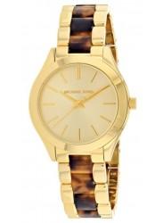 Michael Kors Women's Slim Runway Gold Tone Dial Two Tone Stainless Steel Watch MK3710