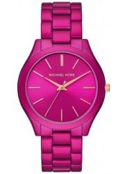 Michael Kors Women's Slim Runway Pink Dial Pink Stainless Steel Watch MK4414
