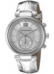 Michael Kors Women's Silver Dial Silver Leather Strap Watch MK2443