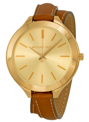 Michael Kors Women's Runway Champagne Dial Leather Watch MK2256