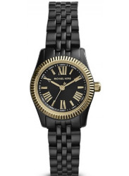 Michael Kors Women's Lexington Black Dial Black Tone Watch MK3299