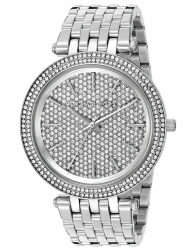 Michael Kors Women's Darci Crystal Pave Dial Analog Display Silver Watch MK3437