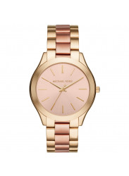 Michael Kors Slim Runway Women's Rose Gold Dial Two-Tone Bracelet Watch MK3493
