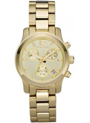 Michael Kors Women's Runway Chronograph Gold Tone Watch MK5384