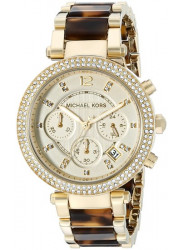 Michael Kors Women's Parker Chronograph Gold Dial Watch MK5688