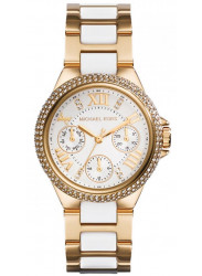 Michael Kors Women's Camille White Dial Gold Tone Watch MK5945