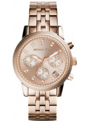 Michael Kors Women's Ritz Chronograph Rose Dial Watch MK6077
