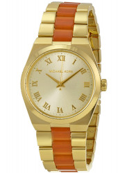Michael Kors Women's Channing Champagne Dial Two Tone Watch MK6153