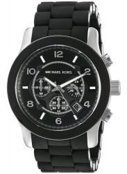 Michael Kors MK8107 Runway Chronograph Black Polyurethane & Stainless Steel Bracelet