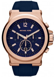 Michael Kors Men's Dylan Navy Silicone Strap Watch MK8295