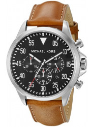 Michael Kors Men's Gage Chronograph Bronw Leather Watch MK8333