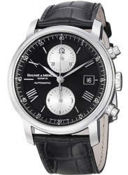 Baume & Mercier Men's Classima Black Leather Watch MOA08733