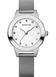 Bering Women's White Dial Stainless Steel Mesh Watch 11125-000