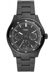 Fossil Men's Belmar Chronograph Black Dial Black Stainless Steel Watch FS5576