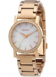 DKNY Women's Mother Of Pearl Dial Rose Gold Tone Watch NY8121