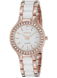 DKNY Women's White Dial Two Tone Watch NY8141
